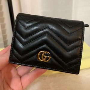 Gucci GG Marmont Card Case Matelasse Leather